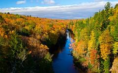 Dead River Color:  Marquette, Michigan (J Henry G) Tags: fallcolor marquette michigan deadriverbasin deadriver mapletrees river johnhenrygremmer octoberinup