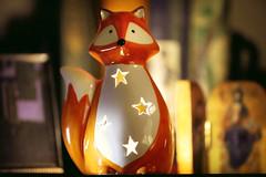 Macro Mondays (crafty1tutu (Ann)) Tags: macro macromonday backlit backlighting light indoor fox tealight ornament china