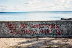Sell Me Something I'll Throw Away (sevres-babylone) Tags: jmartinsevresbabylone toronto torontoisland centreisland lakeontario wall graffiti grii 161022151946viv172800