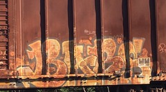 Rusty Bars (MC. Squared) Tags: bixcar freight train graffiti barzoh barsoh bars moms mvp koc