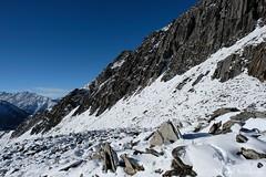 Ascent (Vinchel) Tags: china sichuan siguniang trek outdoor mountain hiking fuji xt2 1655mm f28 landscape mountainside ridge hill arete snow travel