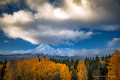 His Majesty (Stephanie Sinclair) Tags: mthood hismajesty hood volcano fallcolor fall2016 oregon pnw clouds trees nikond810