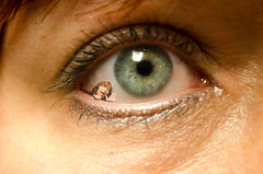 Day 264 of Year 7- There's something in my eye... (Pahz) Tags: 365days selfportrait hereios werehere wah wh macro digitalmanipulation letsgetsmall photoshopelements11