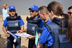 IOM technical team strategizes assessment of Qayyara Airfield emergency site for an initial 60,000 IDPs as result of Mosul ops (DFID - UK Department for International Development) Tags: iraq iom internationalorganisationmigration mosul humanitarianaid ukaid shelter displacedpeople idps daesh humanitarianpreparedness camps idpcamps irak