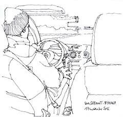 vers clermont (gerard michel) Tags: sketch croquis citron c3 carnetdevoyage urbansketchers