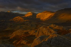 Final Light on Bowfell, Scafell Pike and Esk Hause (Explored) (sunstormphotography.com) Tags: cumbria cumbrianfells cumbrianmountains lakedistrict landscape eskhause bowfell scafellpike broadcrag thelakes thelakedistrict sunset mountains mountain canon24105l canon5dmark3 ndgradfilter bravo