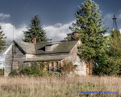 Fall into Winter - Equinox to Solstice #66 - Farmhouse. (elviskennedy) Tags: a7 a7r a7rii a7rm2 abandoned antenna boardedup broken building condemned decayed decrepit doorcounty dscrx1rm2 eggharbor elvis elviskennedy evergreen farm farmhouse farming green hdr highdynamicrange house kennedy neglected old outdoor outside overgrown rx1 rx1r rx1r2 rx1rii rx1rm2 scenic sky sony spruce sunny trees wi windmill windows wisconsin wwwelviskennedycom fishcreek unitedstates us