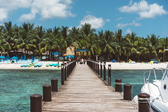 Playa Paraiso (KD Robinson) Tags: view hut color impressive travelphotography cozumel water wanderlust perfect perspective mexico beach paradisebeach beautiful travel oceanview sky seascape ocean pier playa detail quintanaroo mx