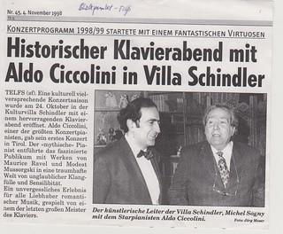 Michel Sogny et Aldo Ciccolini à la Villa Schindler Autriche