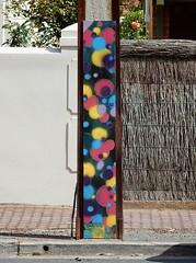 Coloured Bubbles (mikecogh) Tags: glenelg telegraphpoled stobiepole decorated publicart streetart coloured colored balls bubbles