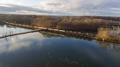 22K at Schaghticoke (Thomas Coulombe) Tags: panamrailways panam panamsouthern norfolksouthern ns c408w gec408w schaghticoke newhampshire fishermanslane drone aerial dji phantom 22k freighttrain train