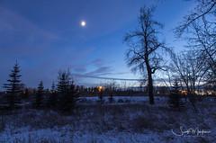 Silhouettes at Dusk (Scott Martin Calgary) Tags: calgary alberta canada ca silhouettes fishcreekprovincialpark dusk sunset moonrise