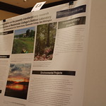 Environmental science capstone poster presentations.