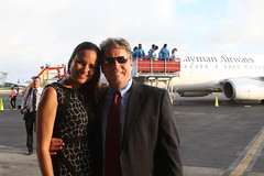 Olivia & Tom (Don McDougall) Tags: donmcdougall caymanislands cayman caymanairways grandcayman owenrobertsinternationalairport oria cal aviation flight transport christening celebration airline
