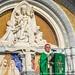 Photo prise pendant la messe d'ouverture du pèlerinage National des Assomptionnistes, mercredi 12 août au matin dans le Sanctuaire de Lourdes (France). Photos Durand et Lacaze pour le Sanctuaire Notre-Dame de Lourdes.