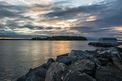 The sunset in Norway (Leonardo Piccioni) Tags: sunset sea summer sun norway landscape europe tramonto mare estate norvegia larkollen d7100 nikkor1685 nikonclubit