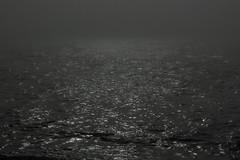 into the sun, fog, mist, Monhegan Island, Maine, Nikon D40, nikon nikkor 55mm F-3.5, 8.21.15 (steve aimone) Tags: ocean sea blackandwhite sun mist seascape monochrome fog maine monochromatic atlanticocean monhegan monheganisland primelens nikond40 nikonprime nikonnikkor55mmf35