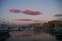 colours - paintfull harbor (Klaatu66) Tags: tramonto nuvole harbour porto palermo colori cala lenticolare gx7