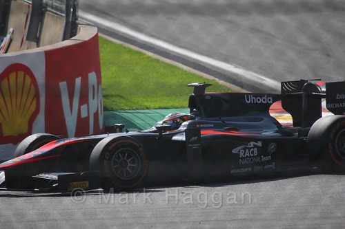 Stoffel Vandoorne in the GP2 Sprint Race at the 2015 Belgium Grand Prix