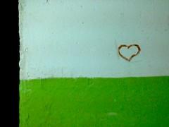 Heart of Ucraine (GrusiaKot) Tags: muro green wall paint heart ukraine kharkov cuore kharkiv ucraina