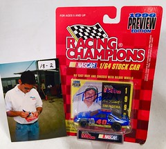 #18-02, Tim Fedawa, Signing, Racing Champions, 1996, Kleenex, #40, Busch, (Tim has a Kleenex Shirt On) (Picture Proof Autographs) Tags: auto classic cars scale car sign real toy toys photo model automobile image display models picture images collection vehicles photographs photograph collections nascar displays 164 vehicle driver proof session autoracing autos collectible collectors signing automobiles collectibles authentic sessions collector drivers genuine diecast winstoncup carded buschseries inperson 164th photoproof authenticated blisterpacks pictureproof