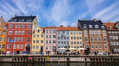 Nyhavn (Evan Tchelepi) Tags: ocean city travel sea sky urban color building skyline architecture clouds docks buildings copenhagen denmark nyhavn harbor europe day outdoor 1020 lumia