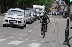 Sykkelfelt Kjpmannsgt. 0013 (Miljpakken) Tags: trondheim rdt sykling bymilj gatemilj miljpakken syklister bygate bytransport bytrafikk miljopakken sykkelveg sykkelanlegg bysykling