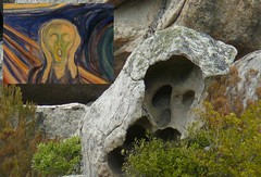 l'impronta pietrificata dell'urlo di Munch - footprint petrified the scream of Munch (Sandro Dei) Tags: rock stone rockface scream terror form roccia munch urlo terrore aggius rockforms rockform stoneforms