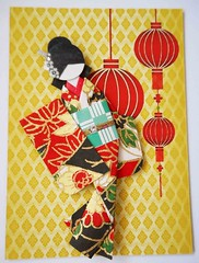 ATC1287 - Celebrating the holidays (tengds) Tags: flowers red black yellow atc artisttradingcard asian japanese gold lanterns kimono obi origamipaper artcard papercraft japanesepaper washi ningyo handmadecard chiyogami asiandoll yuzenwashi japanesepaperdoll washidoll origamidoll kimonodoll nailartsticker tengds