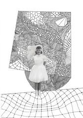 Universe 13 (The People In My Head) Tags: art collage drawings science micro particle atomic quark capra subatomic quantumphysics fritjof blackandwhitedrawings lizjames thepeopleinmyhead boxwiltshire lizfroudart lizfroudjames lizjamesfroud