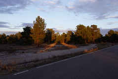 Last sunflackes on the road (LeireMS) Tags: road trip sun sol car clouds relax drive spain carretera ground coche segovia asfalto lanscape rayos lagunas tranquilidad flackes