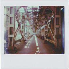 Alleyway (israel,) Tags: chicago train cta minolta theel instant thel instantfilm minoltainstantpro polaroidweek roidweek theimpossibleproject polaroidweek2015