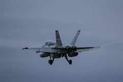 Just before touchdown (Liam Chambers) Tags: red usa usmc america plane fighter devils marines f18 usaf miramar raf lakenheath