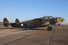 N60JT Lockheed 18-50 (C-60) (eigjb) Tags: usa field plane airplane airport wings october texas force aircraft aviation air transport over houston airshow gal lockheed caf spotting warbird commemorative 1850 c60 woh goodtime lodestar ellington 2015 n60jt