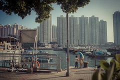 Priceless Moments. (raglansiu) Tags: street family sea love way hongkong boat fishing education time father son patient bond catch teach educate bonding patience streephoto familybond