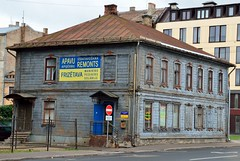 2015 09 18 066 Riga (Mark Baker.) Tags: old city autumn urban house photo wooden europe baker outdoor mark baltic latvia september photograph states academy sciences riga 2015 picsmark