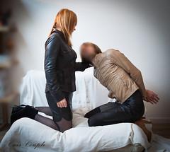 elle_et_lui27 (Cuir Couple) Tags: leather sm mistress leder femdom slave cuir matresse ballbusting soumis