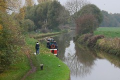 Trent and Mersey Canal from Lock 64 (Wildlife Terry Behind Again.) Tags: november autumn cheshire autumnal narrowboat towpath 2015 trentmerseycanal autumnwatch peopleandpaths cheshireringcanalswalk malkinsbanksandbach