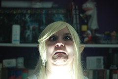 Beauty or the Monster? (bXtrll) Tags: portrait love beauty face monster ears elf fantasy ugly blonde nonhuman