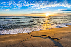 Golden sand (Richard Larssen) Tags: sunset sea sky sun seascape reflection beach nature norway landscape golden evening coast norge sand sony norwegen richard alpha scandinavia a7 jren rogaland h ogna brusand larssen richardlarssen sel1635z