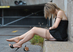 My deepest desire (_.* PJ Photography *._) Tags: sexy feet stockings nude high legs heels pedicure suspenders mules nylons sheer garters stayups holdups