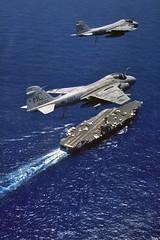 VA-75 A-6E Intruders (skyhawkpc) Tags: airplane inflight aircraft aviation navy naval usnavy usn 1990 intruder grumman ussjohnfkennedy a6e 152191 ac501 cva67 ac503 va75sundaypunchers 162193
