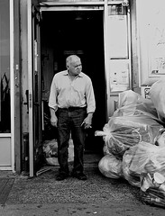 Garbage Man (johndutcher) Tags: garbage streetphotography garbageman