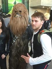 bargain basement Han + Chewie (Honky275) Tags: nycc starwars hansolo chewbacca
