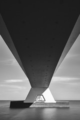 Different perspective (miguel_lorente) Tags: blacknwhite longexposure zeelandbrug netherlands bridge architecture water bw blackandwhite filter bnw holland nd zeeland