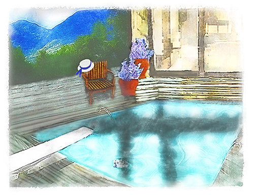 serialfiction composite swimmingpool doublecrossed jamesbondandthegirlsofwoodstock