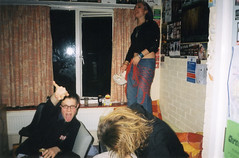 Rock out in my room (Gary Kinsman) Tags: hampsteadstudentcampus hampstead childshill nw3 kidderporeavenue london film kingscollegelondon kcl hallsofresidence studentcampus students university fun youth young 2002 ellison flash