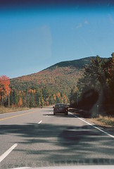 VT --> NH (Nsharp17) Tags: nikon nikonfe film 35mm kodak ektar ektar100 fall autumn car vermont foliage