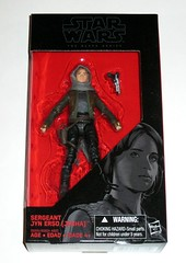 star wars the black series 6 inch action figures 2016 red packaging the force awakens #22 sergeant jyn erso - jedha rogue  one misb a (tjparkside) Tags: sergeant jyn erso jedha rebel star wars sw tbs black series 6 six inch action figure figures hasbro 2016 rogue 1 one story alliance number 22 twenty two red package disney scarf cloak hood blaster holster jacket pistol weapon r1