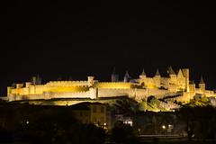 Noche cerrada en la ciudad vieja de Carcassonne (Francia) (agustiam) Tags: carcassonne night nit nuit medievale france castle chateau